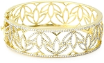 Diamond Cuff Bracelets 10.00 Ct Solid Gold Natural Certified
